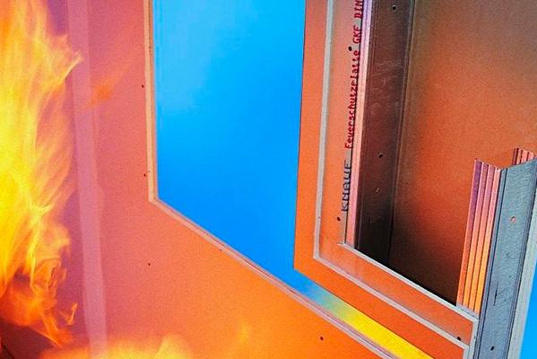 Las únicas placas de yeso laminado con reacción al fuego A1
